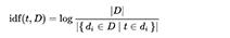 Формула расчета IDF